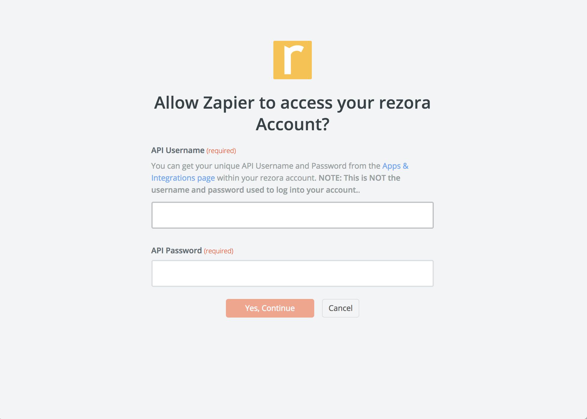 rezora API Key