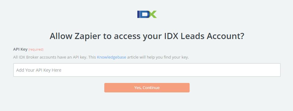 IDX Leads - Integration Help & Support | Zapier