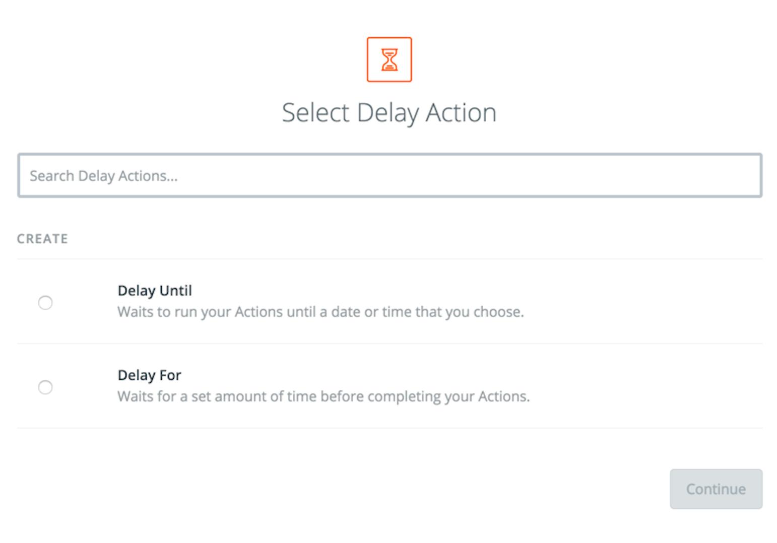 delay options