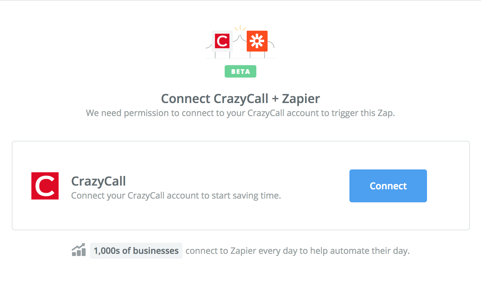 Click to connect CrazyCall