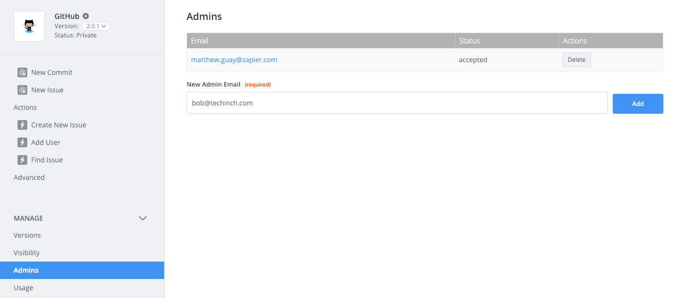 Zapier integration admins