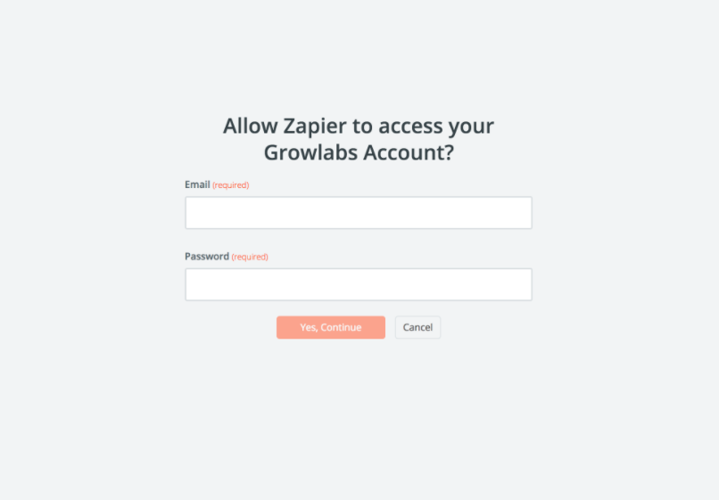 Growlabs username and password