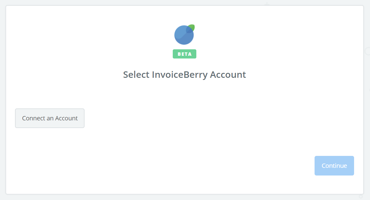 Click to connect InvoiceBerry