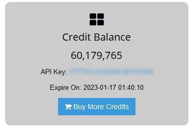 MailboxValidator API Key in APP account
