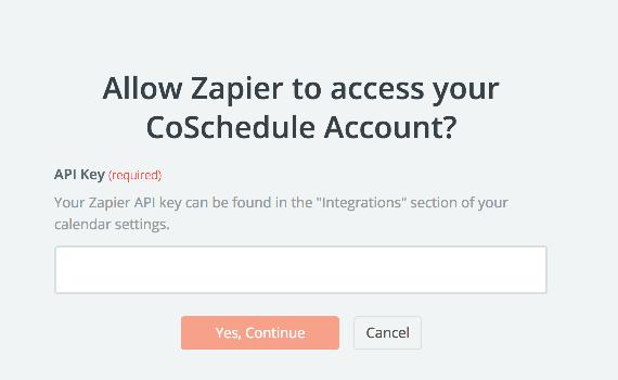 CoSchedule API Key