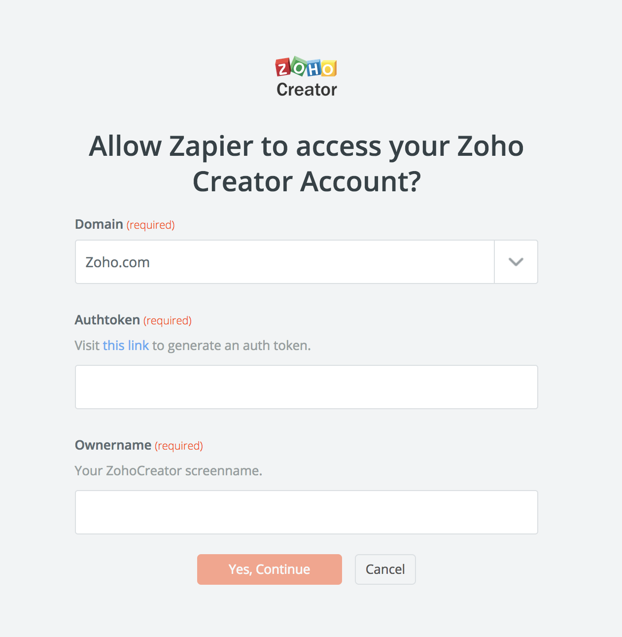 Zoho Creator Ownerame Screenname