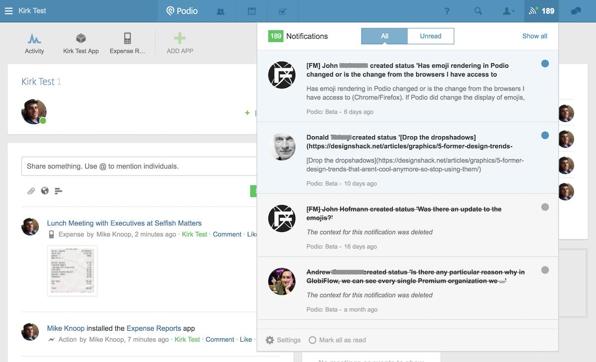 Podio Screenshot Examples & Demo Videos | Zapier