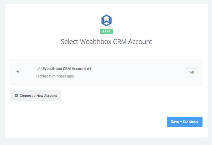 Wealthbox CRM connection successfull