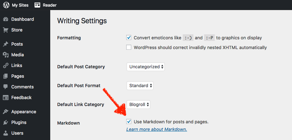 Enable Markdown in WordPress