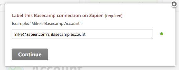 Connect Basecamp Step 2