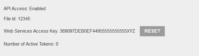 Saasu API Key in Saasu account