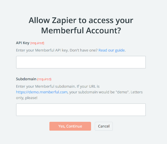 Memberful API Key