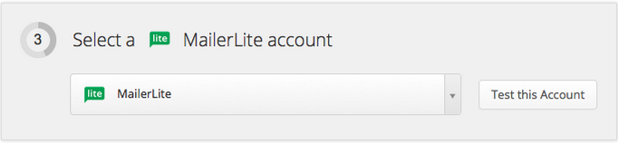 Add MailerLite account