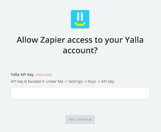 Yalla API Key