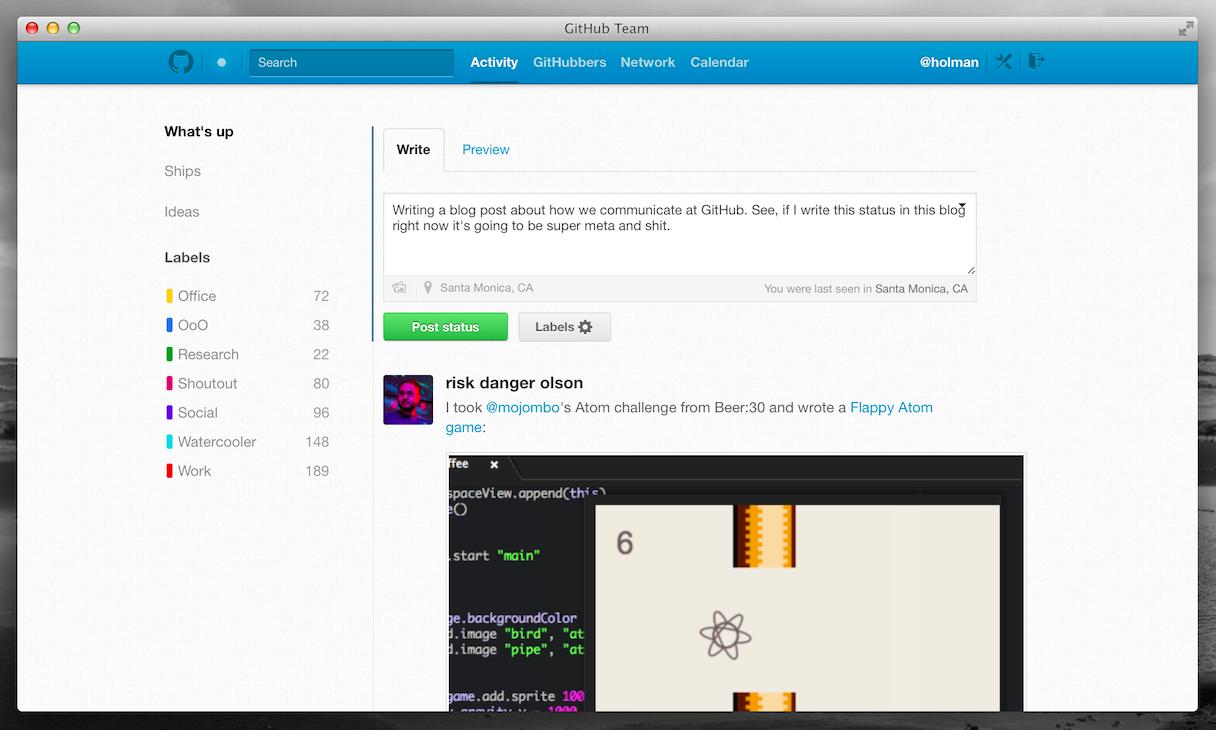 GitHub Team App
