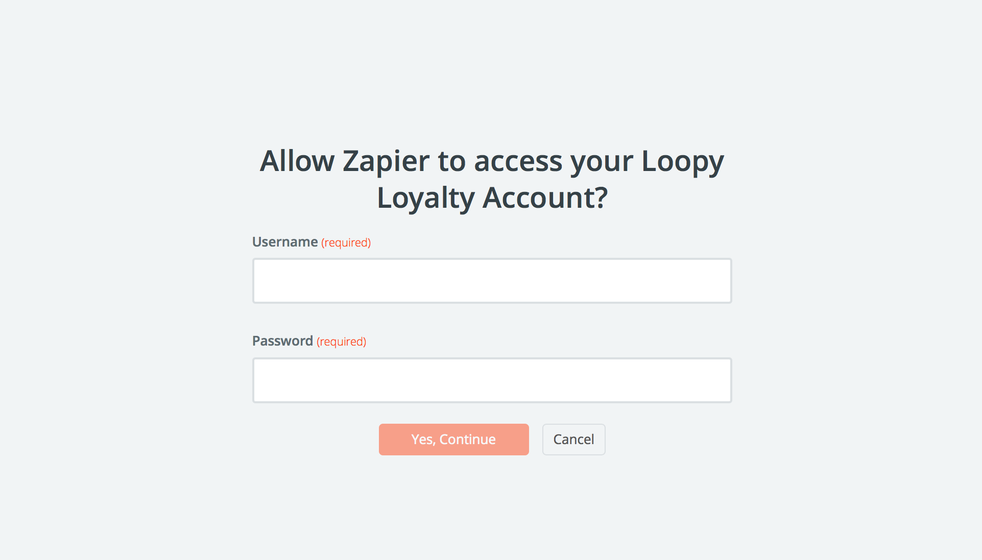 Login to Loopy Loyalty