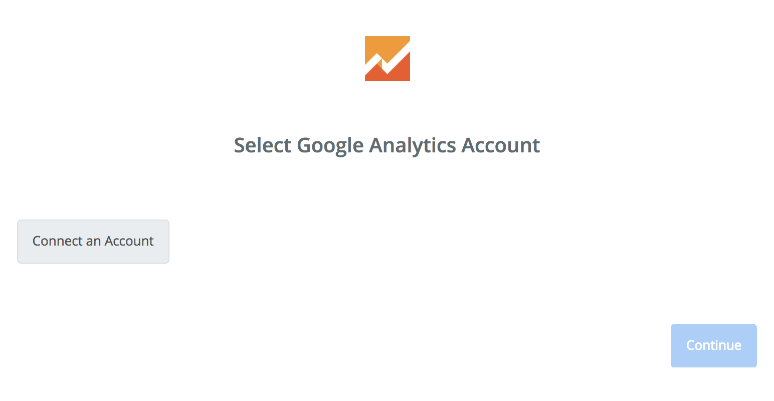 Click to connect Google Analytics
