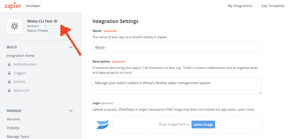 Edit Zapier integration branding