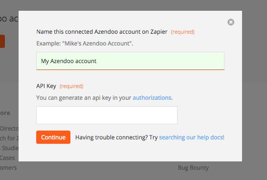 Azendoo API Key