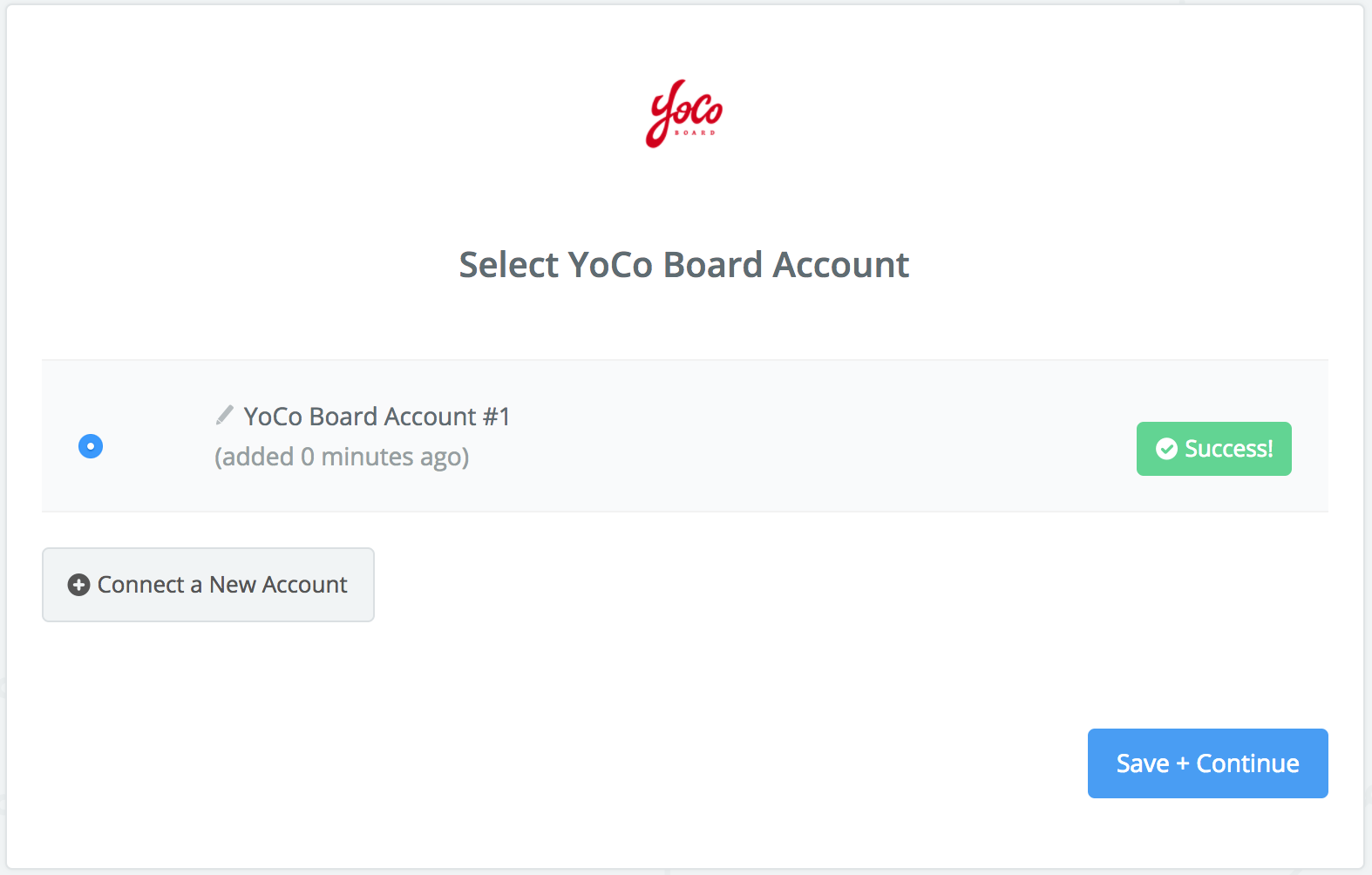 YoCo Boardconnection successfull