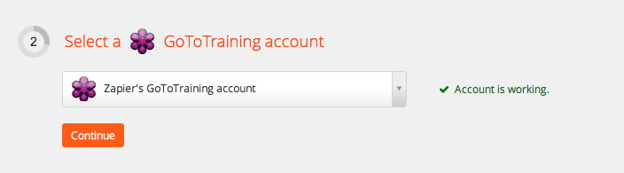 Your GoToTraining account is authorized