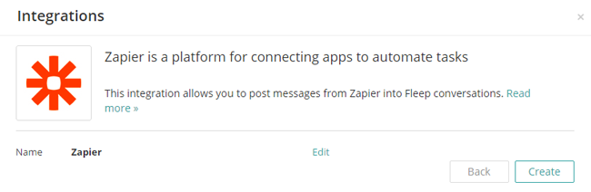 Create Zapier hook