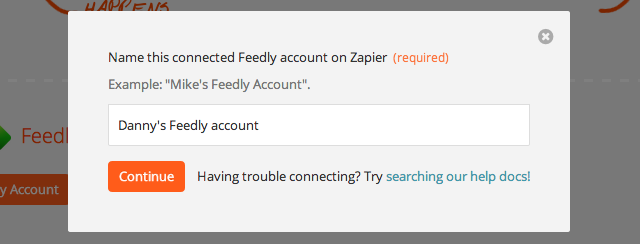 Give your feedly account a title.
