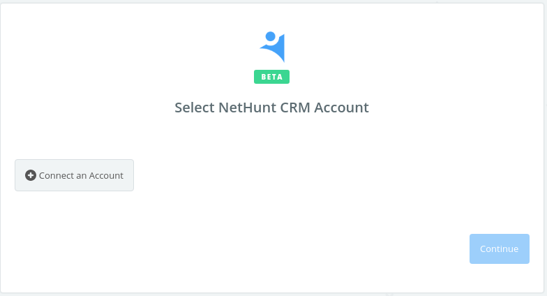 Click to connect NetHunt CRM