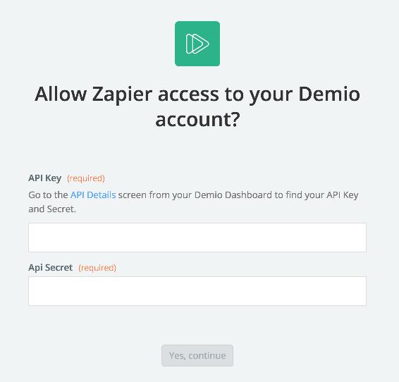 Demio API Key