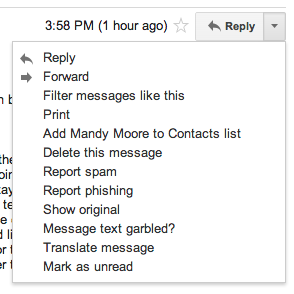 Finding the original Gmail email
