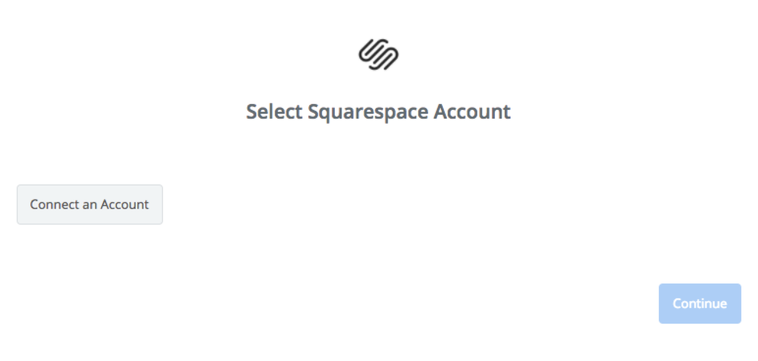 Click to connect Squarespace