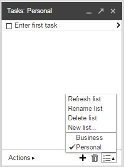 Add lists to Google Tasks