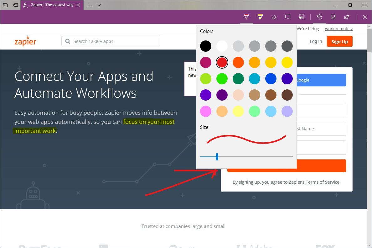 Microsoft Edge Web Note