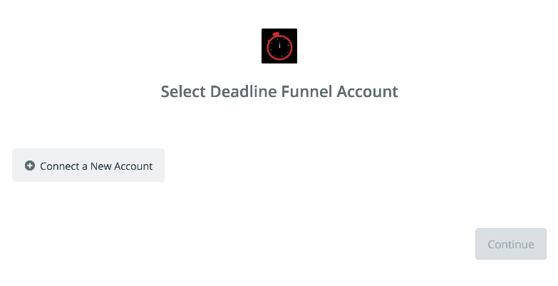 Click to connect Deadline Funnel