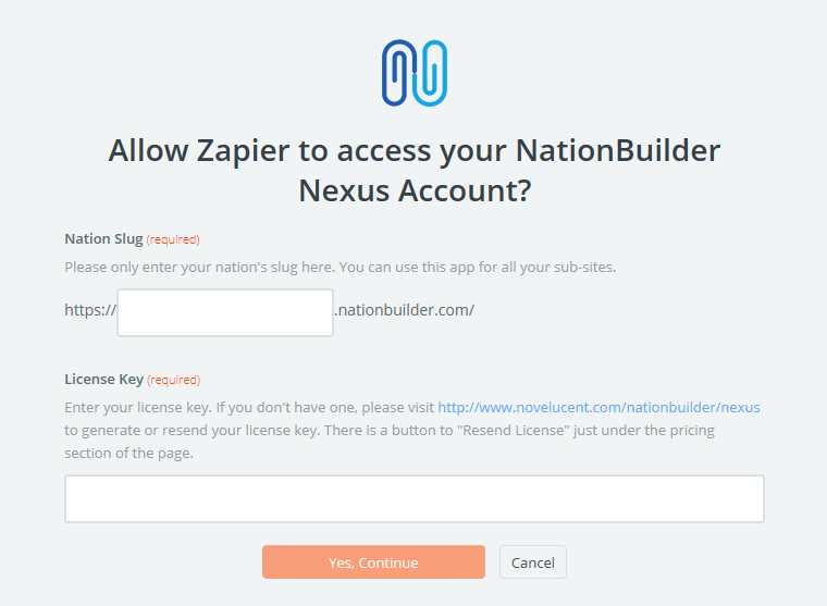Login to NationBuilder Nexus