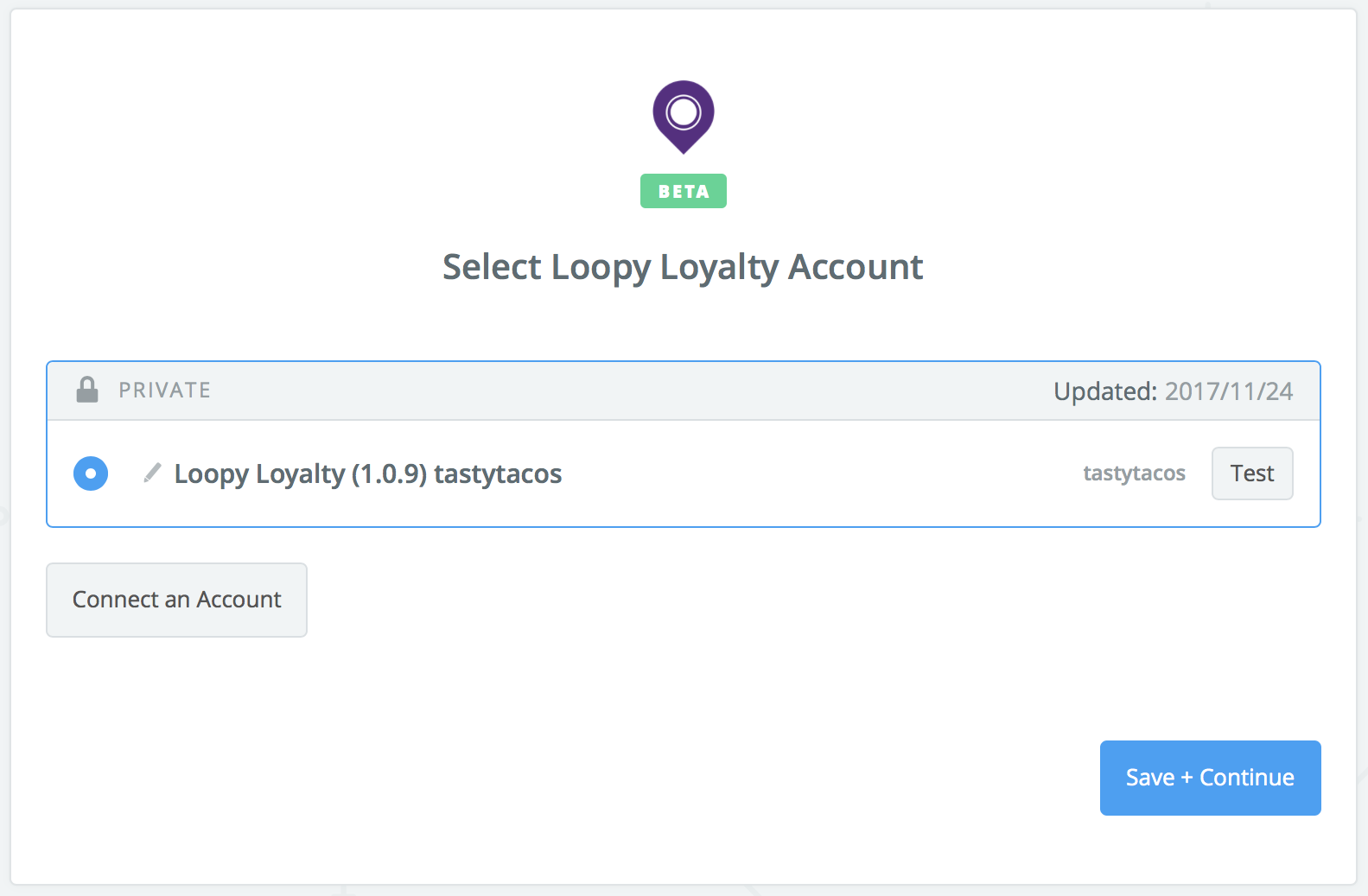 Loopy Loyalty connection successful