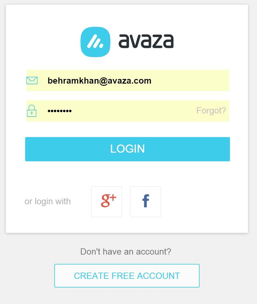Login to Avaza