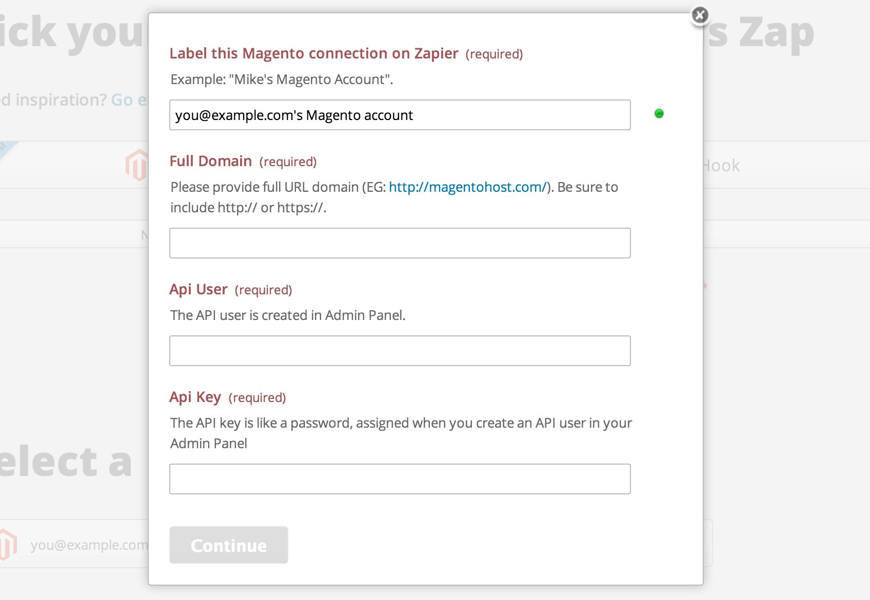 Magento - Integration Help & Support | Zapier