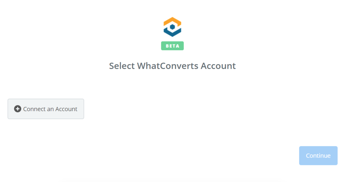 Click to connect WhatConverts