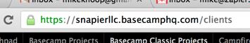 Basecamp Classic URL Bar