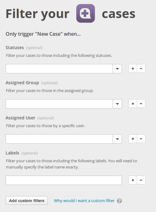 Desk New Case filters