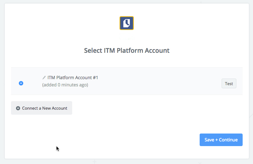 ITM Platform connection successfull