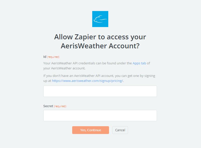 AerisWeather API Key