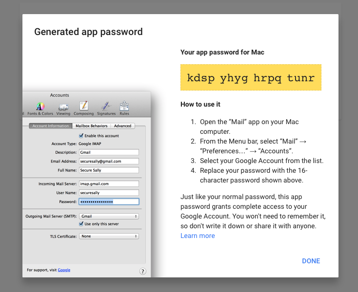 App Password for Gmail