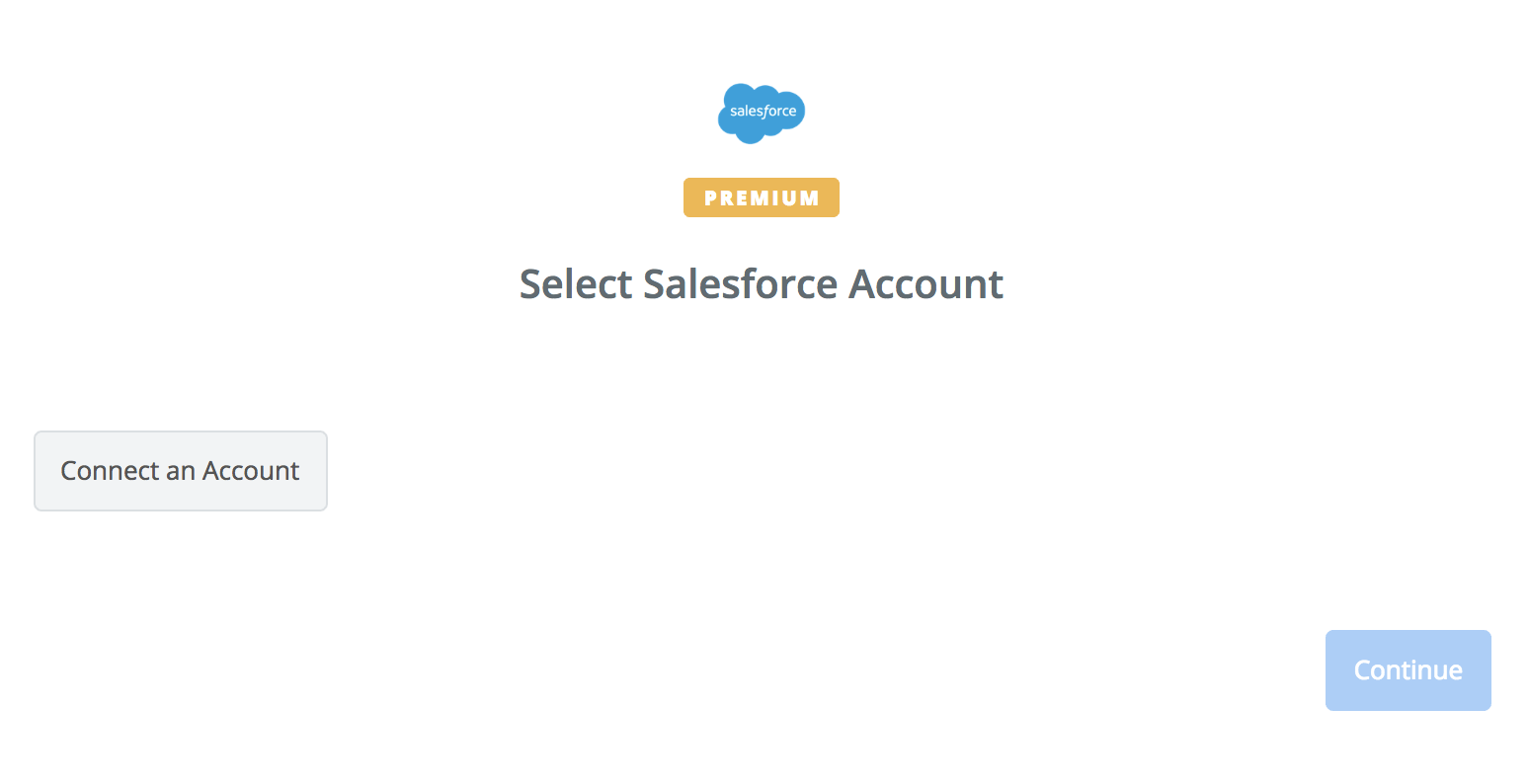 Click to connect Salesforce