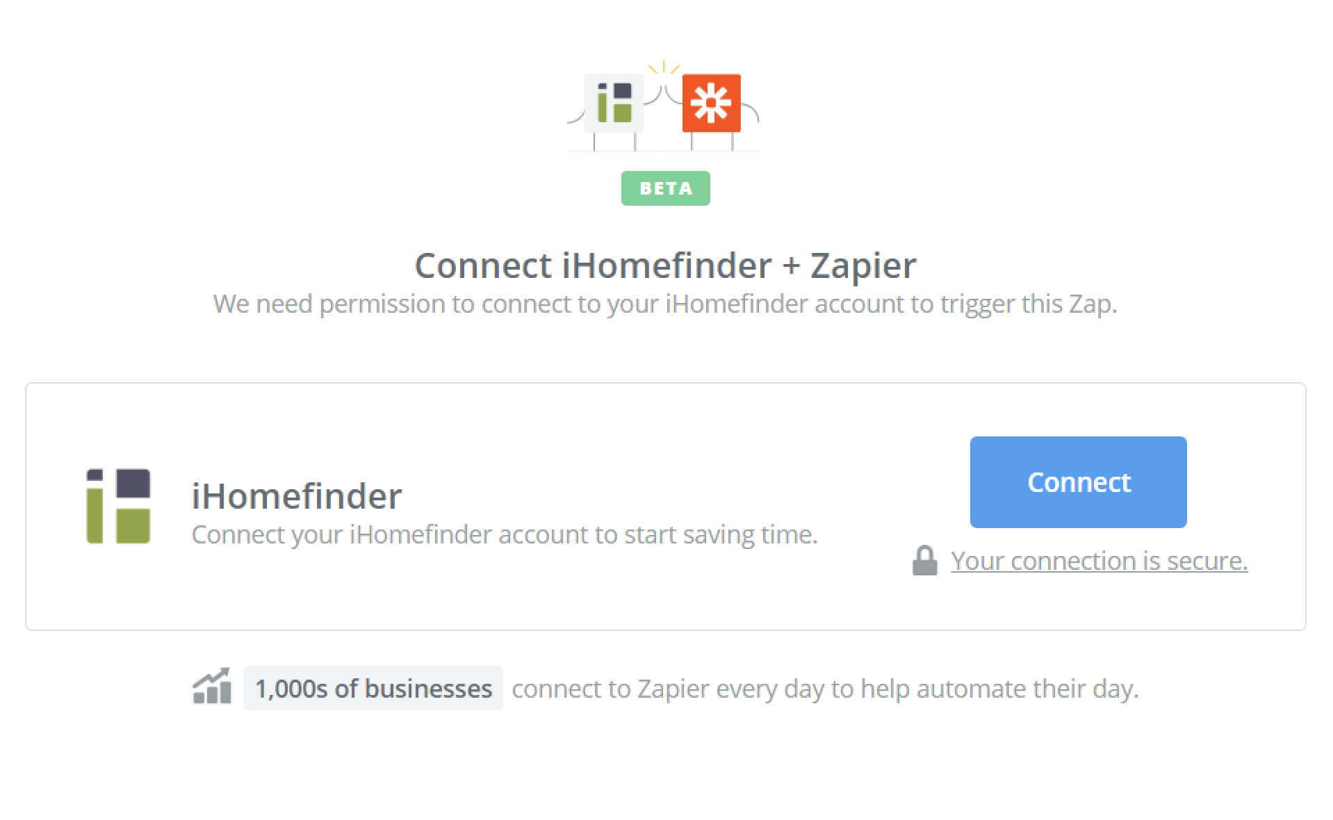 Click to connect iHomefinder