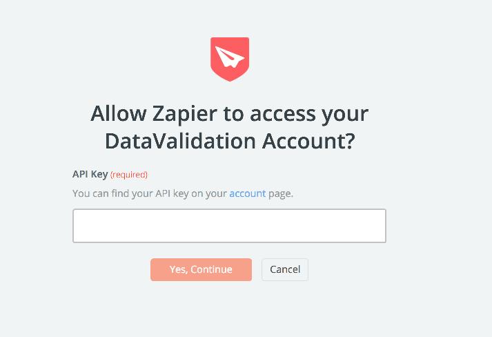 DataValidation API Key