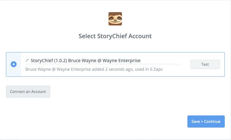 StoryChief connection successful