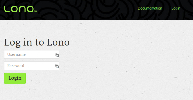 Login to Lono