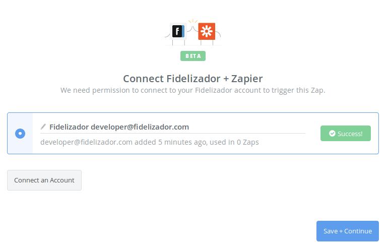 Fidelizador connection successfull